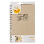 American Crafts - Amy Tangerine Collection - Yes, Please - Daybook - Spiral - Original