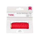 American Crafts - Hemp Twine - Crimson