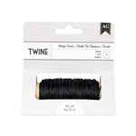 American Crafts - Hemp Twine - Black