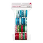 American Crafts - Christmas - Ribbon Value Pack - Winter and Christmas - 24 Spools