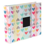 American Crafts - Dear Lizzy Collection - Daydreamer - Patterned Cloth Album - 12 x 12 D-Ring - Hearts