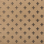 American Crafts - DIY Specialty Paper Collection - 12 x 12 Printed Burlap - Fleur De Lis