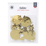 Pink Paislee - Solstice Collection - Foam Stickers - Shapes - Gold