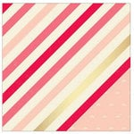 American Crafts - Shimelle Collection - 12 x 12 Double Sided Paper with Glitter Accents - Jemison