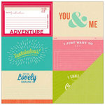 American Crafts - Shimelle Collection - 12 x 12 Double Sided Paper - Rubin