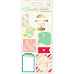 American Crafts - Shimelle Collection - Layered Chipboard Stickers