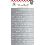 Pink Paislee - Merry and Bright Collection - Christmas - Foil Stickers - Word Strips