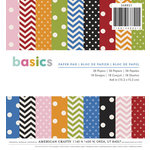 American Crafts - 6 x 6 Paper Pad - Basics - Patterned
