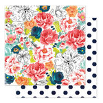 Heidi Swapp - September Skies Collection - 12 x 12 Double Sided Paper - Alpine Rose