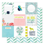 Heidi Swapp - September Skies Collection - 12 x 12 Double Sided Paper - Afternoon Breeze
