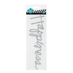Heidi Swapp - Glitter Word Stickers - Chipboard Titles - Silver - Happiness