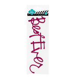 Heidi Swapp - Glitter Word Stickers - Chipboard Titles - Hot Pink - Best Ever