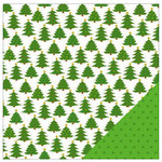 American Crafts - Be Merry Collection - Christmas - 12 x 12 Double Sided Paper - Trim The Tree