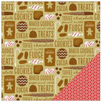 American Crafts - Be Merry Collection - Christmas - 12 x 12 Double Sided Paper - Sweets & Treats