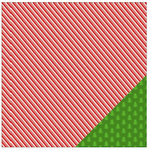 American Crafts - Be Merry Collection - Christmas - 12 x 12 Double Sided Paper - Peppermint