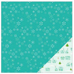 American Crafts - Be Merry Collection - Christmas - 12 x 12 Double Sided Paper - Let It Snow