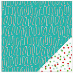 American Crafts - Be Merry Collection - Christmas - 12 x 12 Double Sided Paper - Candy Cane Lane