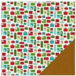 American Crafts - Be Merry Collection - Christmas - 12 x 12 Double Sided Paper - Presents