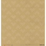 American Crafts - Amy Tangerine Collection - Stitched - 12 x 12 Kraft Paper - Heartfelt