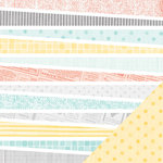 American Crafts - Amy Tangerine Collection - Stitched - 12 x 12 Double Sided Paper - Thrifted
