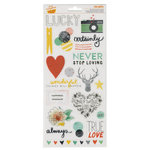 American Crafts - Amy Tangerine Collection - Stitched - Transparent Stickers - Accent and Phrase