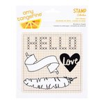 American Crafts - Amy Tangerine Collection - Stitched - Acrylic Die Cut Shapes