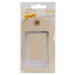 American Crafts - Amy Tangerine Collection - Stitched - Tags - Layered and Stitched
