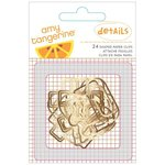 American Crafts - Amy Tangerine Collection - Stitched - Shaped Paper Clips - Gold