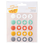 American Crafts - Amy Tangerine Collection - Stitched - Enamel Dots