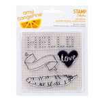 American Crafts - Amy Tangerine Collection - Stitched - Clear Acrylic Stamps - Day Dream