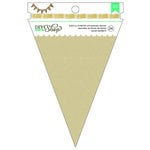 American Crafts - DIY Shop 2 Collection - Banners - 4.5 x 7 - Pennant - Kraft