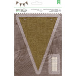 American Crafts - DIY Shop 2 Collection - Banners - 4.6 x 6.37 - Pennant - Burlap