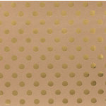 American Crafts - DIY Shop 2 Collection - 12 x 12 Kraft Paper - Gold Foil Dot