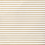 American Crafts - DIY Shop 2 Collection - 12 x 12 Paper - Thin Gold Foil Stripe On White