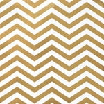 American Crafts - DIY Shop 2 Collection - 12 x 12 Paper - Gold Foil Chevron On White