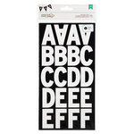 American Crafts - DIY Shop 2 Collection - Large Alphabet Stickers - White