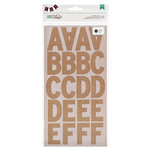 American Crafts - DIY Shop 2 Collection - Large Alphabet Stickers - Kraft