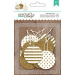 American Crafts - DIY Shop 2 Collection - Tags - Circle - Gold Glitter