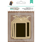 American Crafts - DIY Shop 2 Collection - Tags - Kraft With Chalkboard