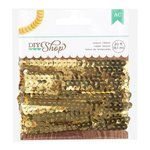 American Crafts - DIY Shop 2 Collection - Sequin Ribbon - Gold