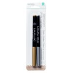 American Crafts - DIY Shop 2 Collection - Permanent Chalk Markers - Medium Point - Gold and Silver