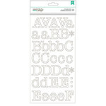 American Crafts - DIY Shop 2 Collection - Large Alphabet Stickers - Typewriter - White