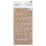American Crafts - DIY Shop 2 Collection - Large Alphabet Stickers - Typewriter - Kraft