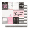 Pink Paislee - Bella Rouge Collection - 12 x 12 Double Sided Paper - Bella Rouge