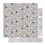 Pink Paislee - Bella Rouge Collection - 12 x 12 Double Sided Paper - Heart Felt