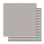 Pink Paislee - Bella Rouge Collection - 12 x 12 Double Sided Paper - Pretty