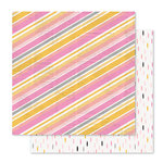 Pink Paislee - Bella Rouge Collection - 12 x 12 Double Sided Paper - Shine