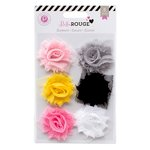 Pink Paislee - Bella Rouge Collection - Frayed Flowers