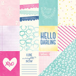 American Crafts - Dear Lizzy Serendipity Collection - 12 x 12 Double Sided Paper - Hello Honey