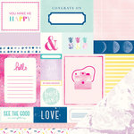 American Crafts - Dear Lizzy Serendipity Collection - 12 x 12 Double Sided Paper - Smitten